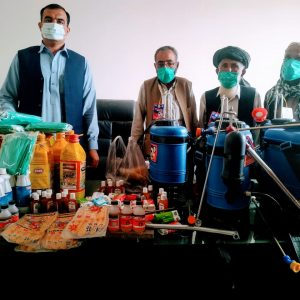 Mask, disinfectant and other supplies provided to  BHUs
