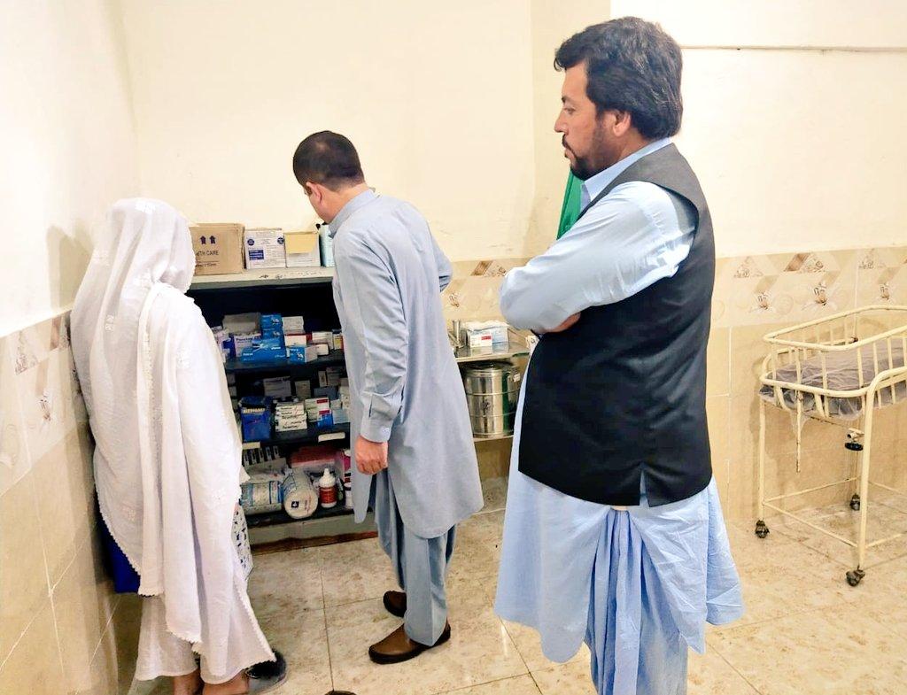 Director Monitoring PPHI-B visited paid diffrent BHUs in District Killa Saifullah